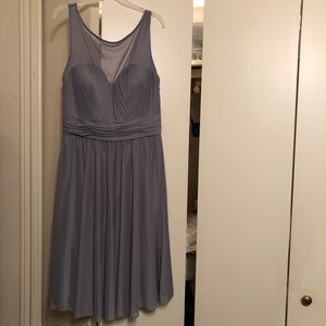 David's Bridal grey bridesmaid dress
